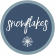 Snowflakes Word Art Circle