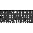 Snowman Word Art
