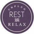 Unplug Rest and Relax Word Art
