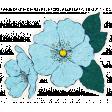 Reflections Flower Sticker