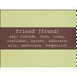 Friendship Day - Journal Card 2