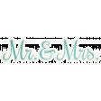Shabby Wedding - Mr & Mrs Sticker