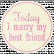 Shabby Wedding - Circle Tag