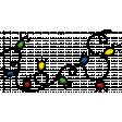 Multi Color Christmas Lights String Element