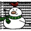 Merry Snowman With Bird Element