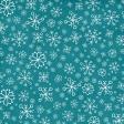 Winter Paper Blue Snowflake