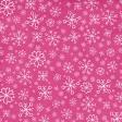 Winter Paper Pink Snowflake