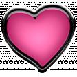 Winter Puffy Sticker Pink Heart