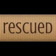 Shelter Pet 12 Inch Beige Rescued Ribbon