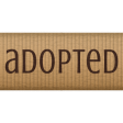 Shelter Pet 12 Inch Ribbon Adopted