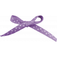 Easter Purple And White Bow Element