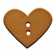 Enjoy Each Moment - Tan Leather Heart Button
