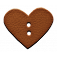 Enjoy Each Moment - Brown Leather Heart Button