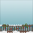 Home For The Holidays - Snowy Fence Paper