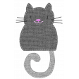 Oh Kitty Kitty - Stitched Burlap Layered Kitty Template 4