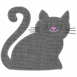 Oh Kitty Kitty - Stitched Burlap Layered Kitty Template 5