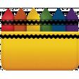 Back To School - Crayon Box Element
