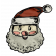 Retro Holly Jolly - Santa Face Element