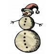 Retro Holly Jolly - Snowman Element