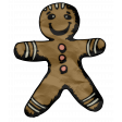 Retro Holly Jolly - Gingerbread Man Element