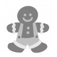 Christmas Gingerbread Boy Element Template