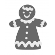 Christmas Gingerbread Girl Element Template