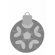 Christmas Ornament Element Template 3