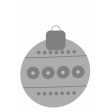 Christmas Ornament Element Template 4