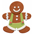 Christmas Gingerbread Man Element