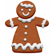 Christmas Gingerbread Girl Element