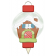 Christmas Gingerbread House Ornament Element