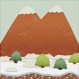 Christmas Gingerbread Mountain Paper
