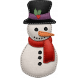 Stitched Christmas Snowman Element