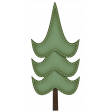 Stitched Christmas Whispy Tree Element