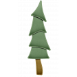 Stitched Paper Christmas Tree Element