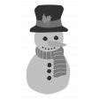 Christmas Snowman Element Template
