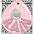 Umbrella Weather - Tiny Pink Tag
