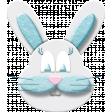 Easter - Blue Bunny Element