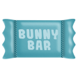 Easter - Blue Bunny Candy Bar Element