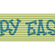 Easter - Green Happy Easter Ribbon Element