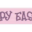 Easter - Pink Happy Easter Ribbon Element