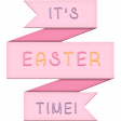 Easter - Layered Pink It's Easter Time Title Element