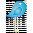 Easter -Tall Blue Bird Element