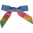 Easter - Rainbow Stitched Bow Element