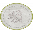 Grunge and Roses - Embossed Rose Label