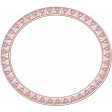 Grunge and Roses - Oval Frame - Pink