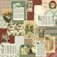 Retro Holly Jolly Collage Paper #3