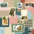 Retro Holly Jolly Collage Paper #4