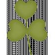 Ladybug Garden - leaf stem #2