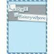 Love Knows No Borders - journal/pocket card 3
